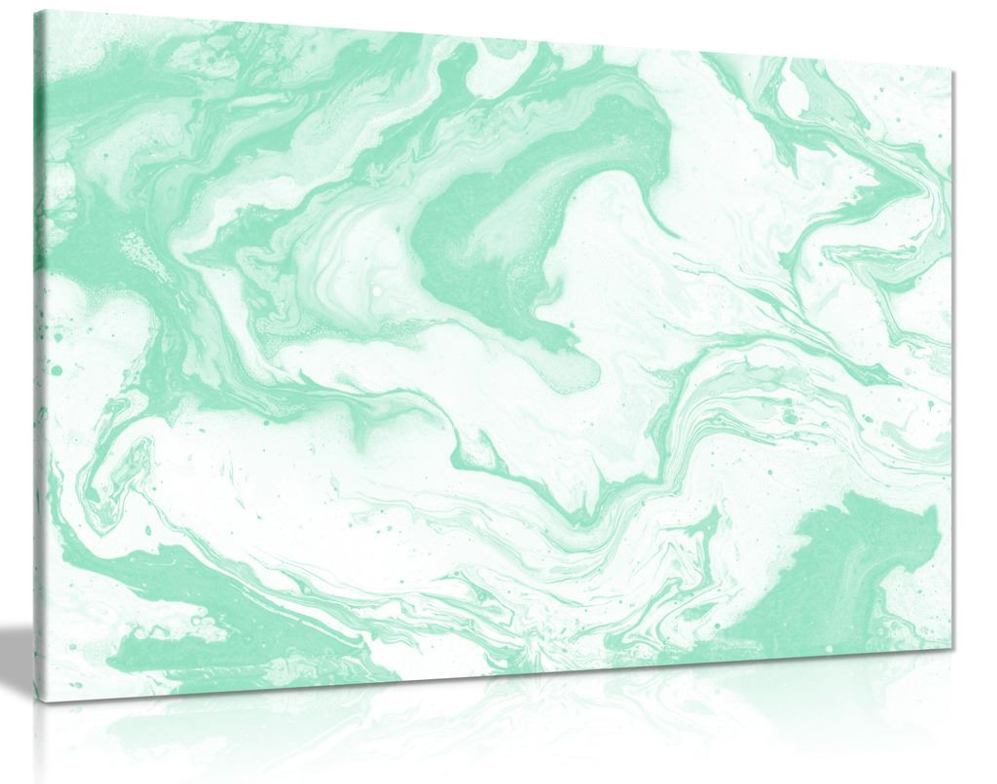 Mint Green Marble Canvas Wall Art Picture Print