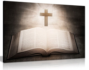 Holy Bible Christian Canvas Wall Art Picture Print