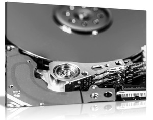 Hard Drive Black And White Modern Photography Canvas Wall Art Picture Print