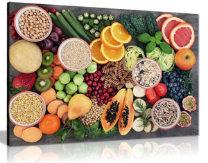 Fresh Healthy Fruits Kitchen Canvas Wall Art Picture Print