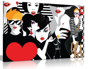 Fashion Pop Art Canvas Wall Art Picture Print