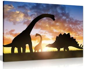 Dinosaurs in Sunset