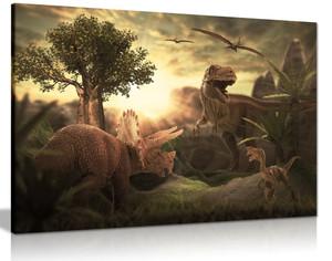 Dinosaur T Rex Canvas Wall Art Picture Print