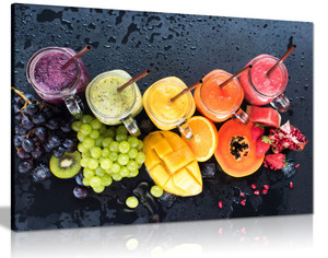 Colorful Various Fruit Food Canvas Wall Art Picture Print