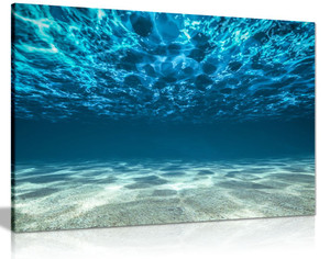 Blue Ocean Sea Seaview Beneath Surface Canvas Wall Art Picture Print