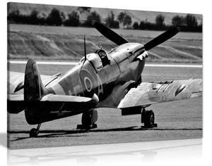 Black White Raf Spitfire Aircraft