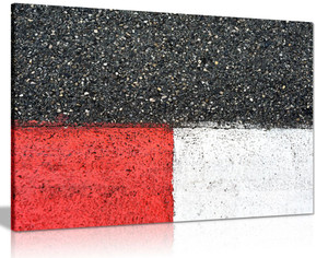 Black Red White Racing Track Grand Prix Modern Canvas Wall Art Picture Print