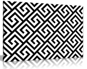 Ancient Greek Pattern Canvas Wall Art Picture Print