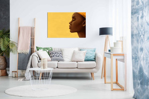African Art Modern Beautiful Woman Calm Canvas Wall Art Picture Print Home Decor
