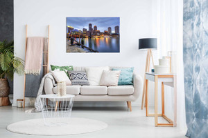 Boston Skyline Canvas Wall Art Picture Print Home Decor