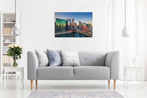 Chicago Skyline Canvas Wall Art Picture Print Home Decor