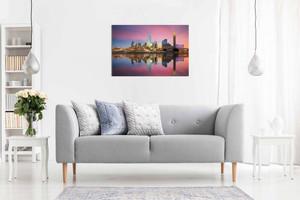 Dallas Texas Skyline Canvas Wall Art Picture Print Home Decor