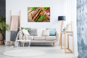 Donor Kebab Grill Turkish Restaurant Decor Kabob Food Canvas Wall Art Picture Print Home Decor