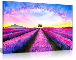 Pink Purple Lavender Watercolour Canvas Wall Art Picture Print Home Decor