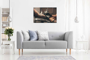 Vintage Tattoo Parlour Canvas Wall Art Picture Print Home Decor
