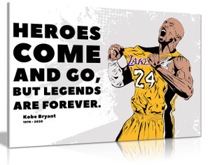Kobe Bryant Quote Basketball Inspirational Motivational Canvas Wall Art Picture Print Home Decor