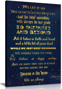 We Do Disney In This House Quote Canvas Wall Art Picture Print Home  Decor