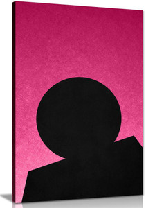Pink Abstract Shapes Canvas Wall Art Picture Print Home Decor