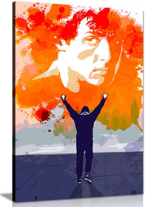 Rocky Canvas Pop Art Portrait Sunset Abstract Quote Canvas Wall Art Picture Print Home  Decor