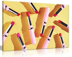 Abstract Girls Bedroom Wall Art Lipstick Canvas