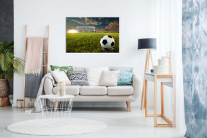 Football On An Open Field Canvas