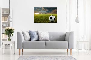 Football On An Open Field Canvas