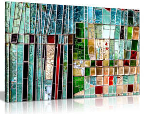 Abstract Colourful Stained Window Canvas