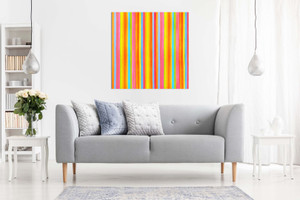 Modern Abstract Contempoary Art Colourful Stripes Canvas