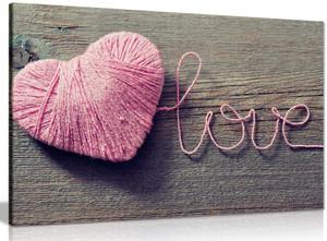 Love Pink Heart Canvas