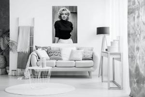 Black & White Marilyn Monroe Fashion Shoot Canvas