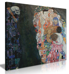Gustav Klimt Death & Life Canvas