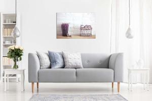 Rustic Home Decor Lavender Flowers Canvas