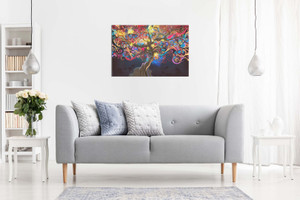 Psychedelic Trippy Art Tree Canvas
