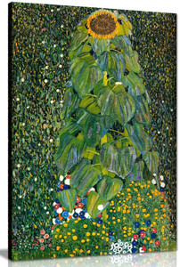 Sunflower By Gustav Klimt Canvas