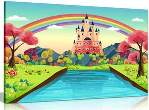 Castle Illustration Canvas