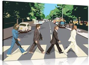 The Beatles Abbey Road 8 Bit Canvas