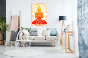 Abstract Buddha Modern Canvas