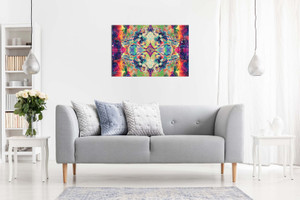 Psychedelic Trippy Art Colour Explosion Canvas