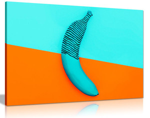 Abstract Contemporary Bannana Modern Canvas