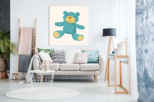 Baby Teddy Bear Kids Childrens Nursery Or Bedroom Canvas