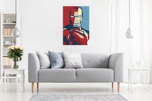 Iron Man Retro Pop Art Canvas