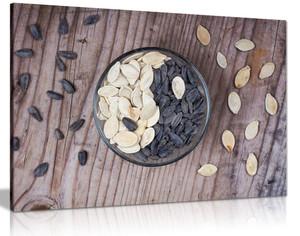 Kitchen Wall Art Ying Yang Seeds Canvas