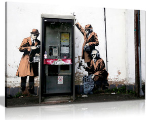 Banksy Mi5 Gchq Spies Canvas
