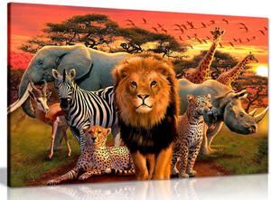 African Wildlife Children Bedroom Canvas