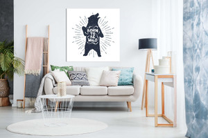 Grizzly Bear Born To Be Wild Canvas