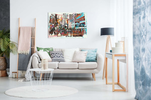 Abstract Modern Art Cityscape Canvas