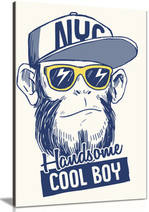 Boys Nursery Bedroom Cool Monkey Canvas