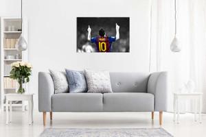 Lionel Messi Barcelona Fc Canvas