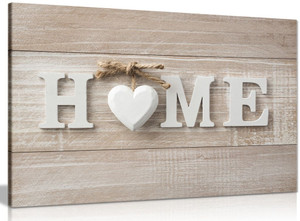 Home Wooden Sign Canvas
