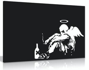 Banksy Fallen Angel Graffiti Canvas